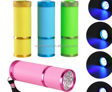 Portable Mini 9 LED Nail Dryer Curing led gel lamp Flashlight Torch For UV Gel nail polish dryer