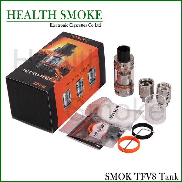 100% Original Smok TFV8 Tank 6ml Top-filling Adjustable Airflow Control Cloud Beast Tank with 4 Unique Patented Turbo Engines