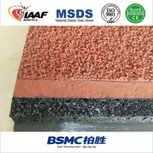 13mm Sandwich Synthetic Rubber Running Track Surface Material Manufacturer