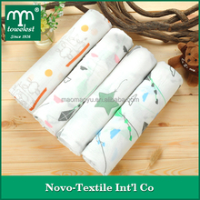 Hot Selling!!!China Manufacturer Double layers muslin baby breathable swaddle blanket