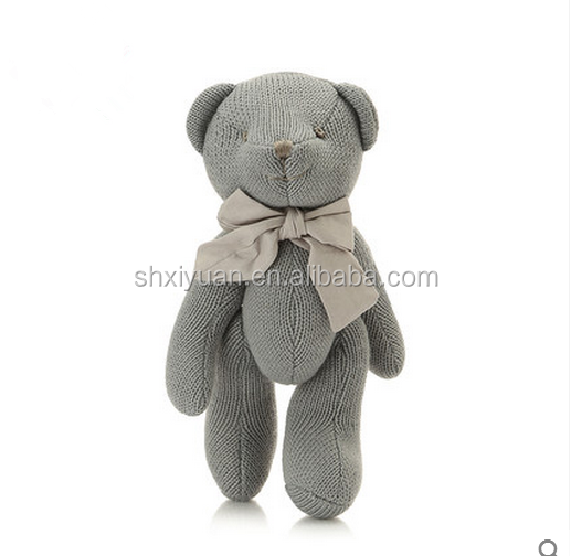 Soft baby grey stuffy bear toys custom teddy bear