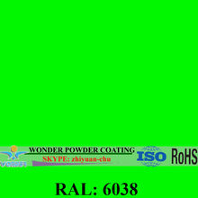 RAL6038 Luminous Green electrostatic epoxy/polyester powder coating