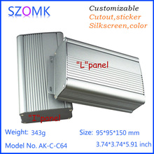 electrical dark grey szomk enclosure aluminum extrusion project box