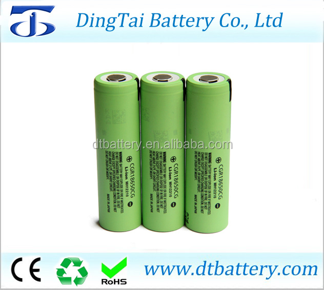 Japan 18650 li-ion battery cells 3.7v 2250mah battery cgr18650cg