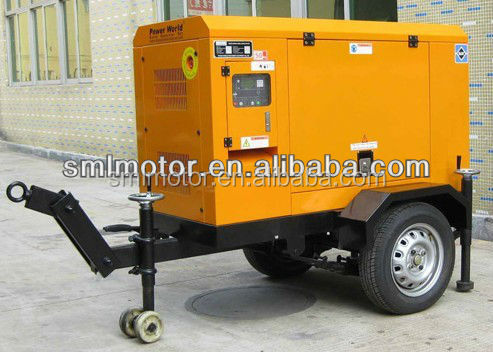 10KW Two Cylinder Trailer Generator Set with EPA Certification