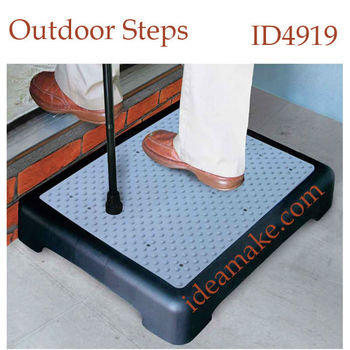SGS safety approval mobile plastic safety steps great for Elderly Care,use indoors or out