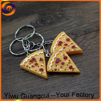 New westward food pizza cheese keychain
