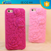 3D Elegant Rose Relief Silicone Phone Case For iPhone 5/5s