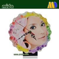 Mida Sublimation Clocks Personalized Clock MDF Boards Table Clock