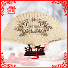 Cheap Souvenir promotional wooden hand held fan GYS111