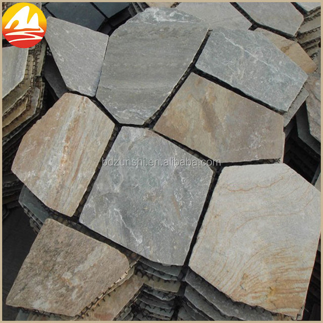 Fashion Type Slate Landscaping Stone Pavers With mesh backed