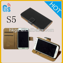 Pu Leather Book-Style Wallet Card Slot Case Pouch For Samsung Galaxy S5 I9600