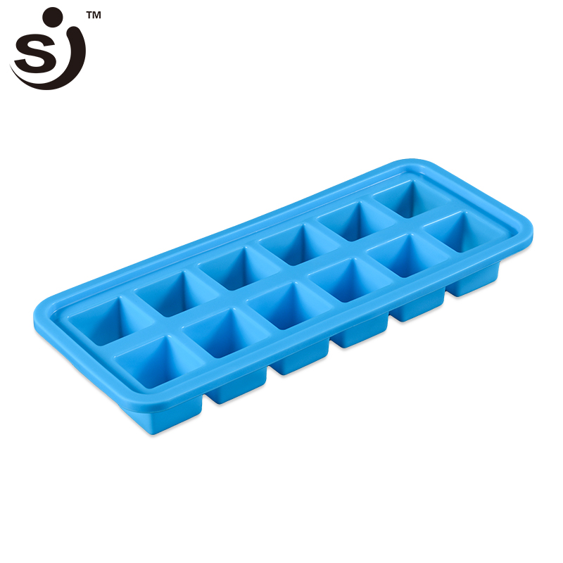 JS-519 <strong>12</strong> - Cavity Soft Chcocolate Square Silicone ice Cube Tray