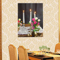 Hanging Canvas Painting with Led Light For Dinner Room Decoration