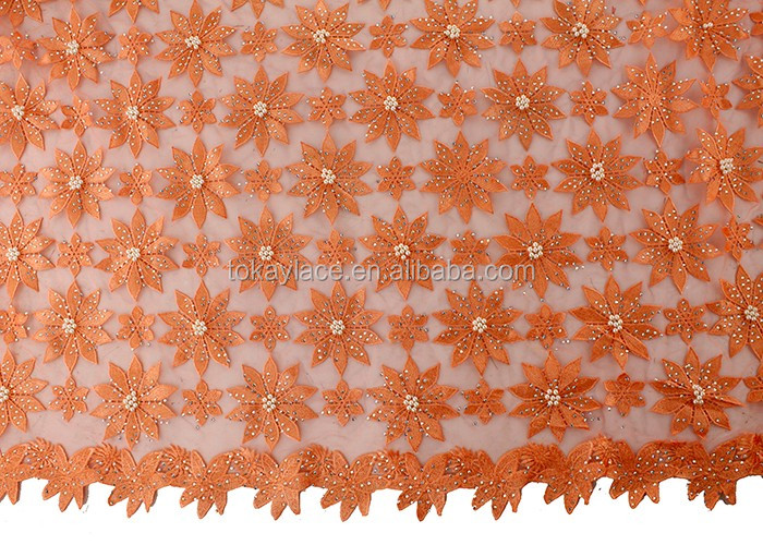 New Fashion Embroidery French Lace Fabric and African Tulle Lace for Wedding