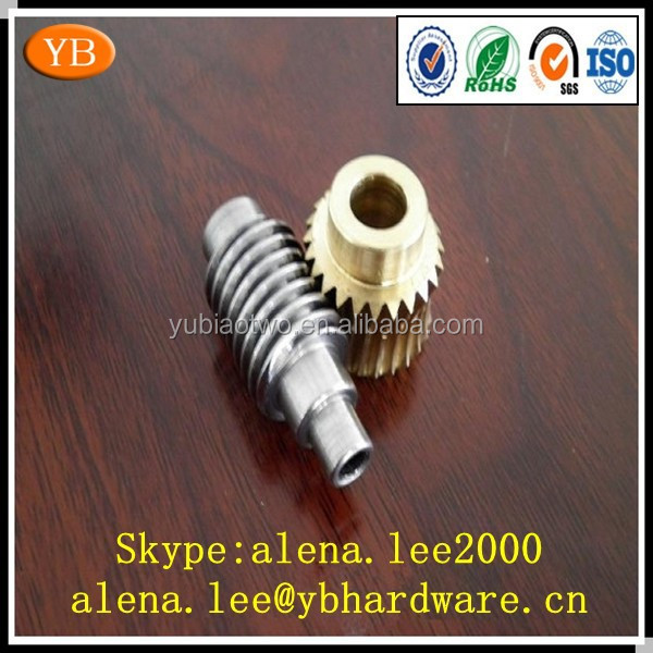 Custom brass/steel micro/mini/small worm gear ISO9001 Passed
