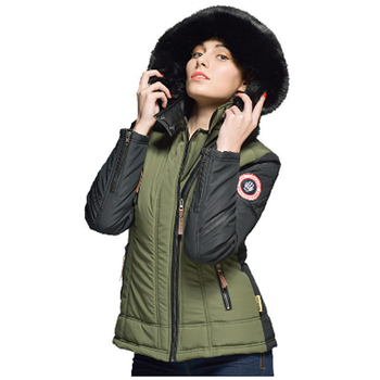detachable hood winter jacket women short down padding jacket