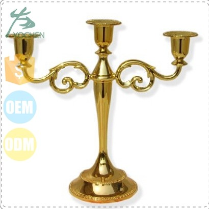 centerpieces 3 tier gold color stem votive holder antique candle holder
