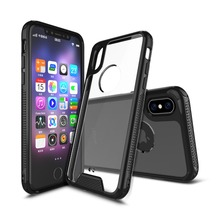 Ultra Slim Anti-Scratch Acrylic Clear Case with TPU Grip Bumper Hybrid Phone Cover For Iphone 8