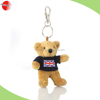 Cheapest keychain toy teddy bear for promotional gift