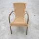 Bamboo Plastic synthetic rattan high back arm chairs garden chair