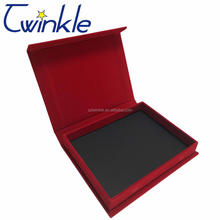 Velvet cover plastic high quality custom jewelry box packaging with logo