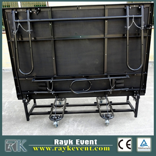 folding stage steps for truck and trailer parts