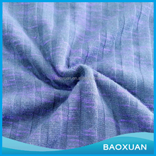 China supplier wholesale cheap fashion beautiful polyester rayon satin color rib fabric for knit sweater