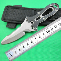 Scuba diving rescue knife for water sports camping with strap and sheath