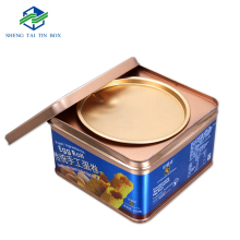 Custom nice design square metal egg roll cookie biscuit tin box