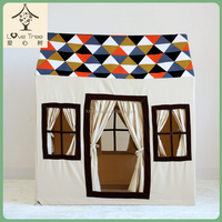 100% cotton fabric portacabin children bed tent prince princess bed tent kids teepee fabric houses to play baby teepee