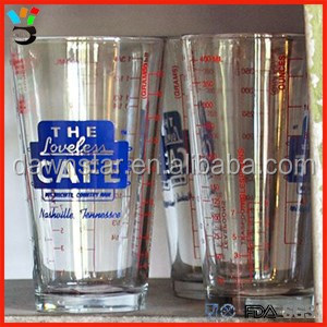 Dish Washer Safe Mixing Glass 16oz Alcoholic Cocktail Recipe Drinking Measuring Pint Glass