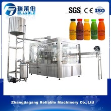 Lemon Juice PET Bottles Filling Sealing 3-in-1 Unit Machine