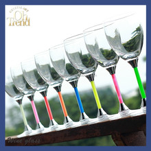 Wholesale handmade colored lead free clear crystal luminous glass magic cup used for bar,party