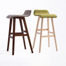 New Products Safety Item 74CM Nordic Modern Wooden Bar Stool