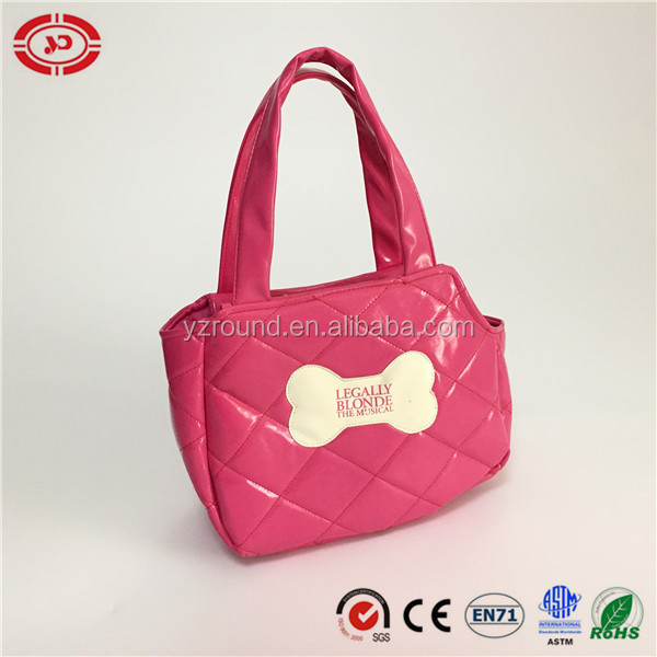 Pink hand bag quality dog bone logo girl gift bag