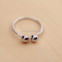 fashion ring designs new model women silver rings stud ball 925 silver ring