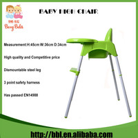 EN14988 Certificate Approved High Quality Tray Removable Fashion Baby Plastic Chair