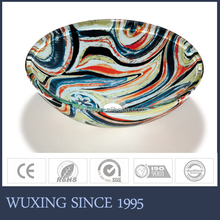 The Top Quality Wash Basin Tempered Double Layer Crystal Glass India Style Appear Artistic Sanitary Ware