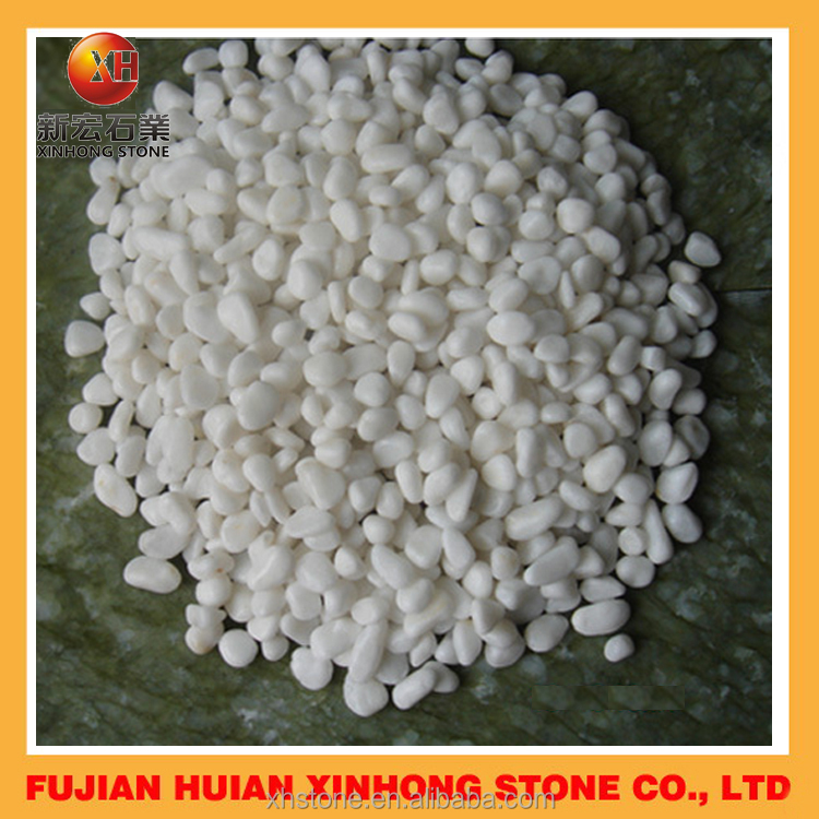 High quality garden white color marble pebbles for wholesale