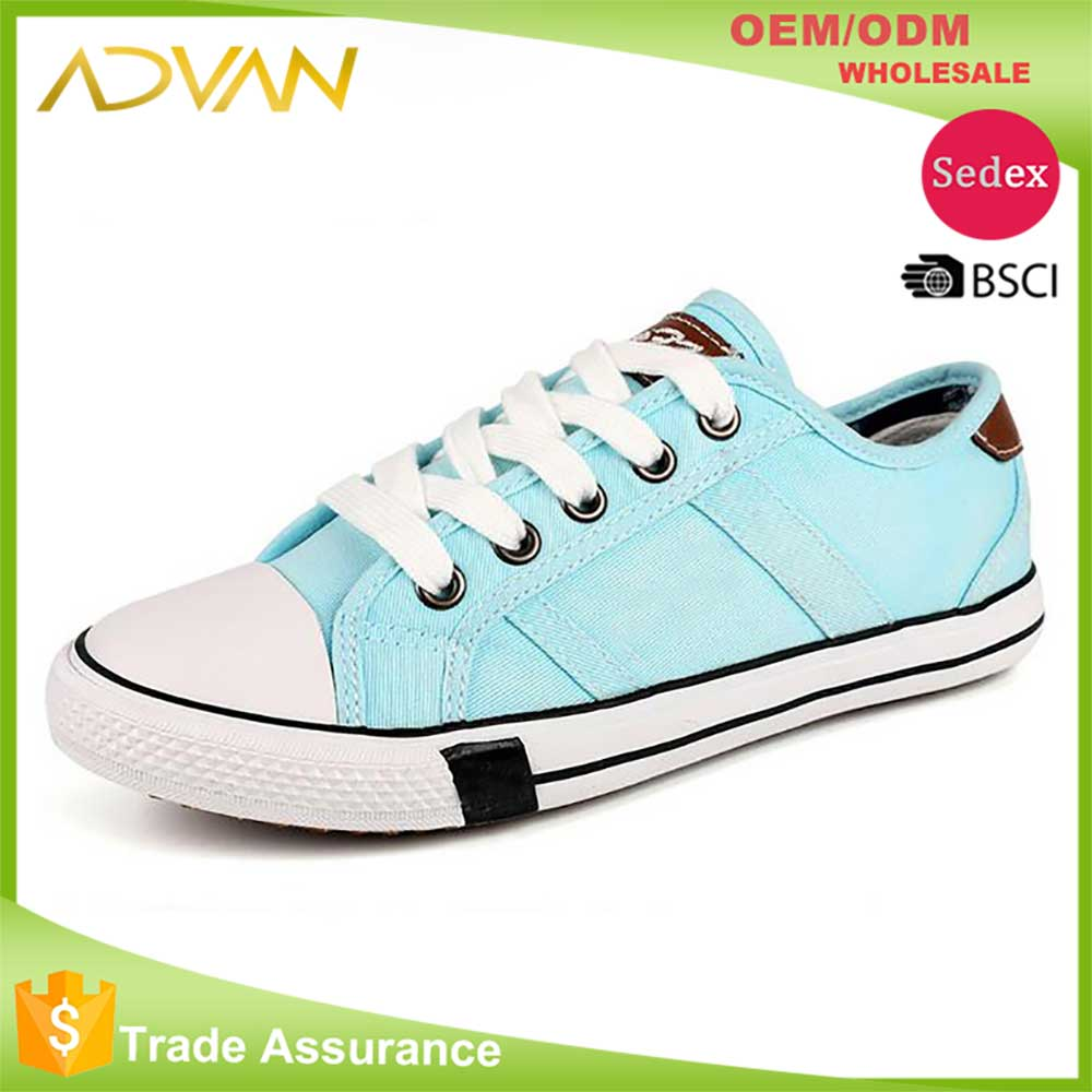 New Design lace up low cut Casual Canvas Shoes Women