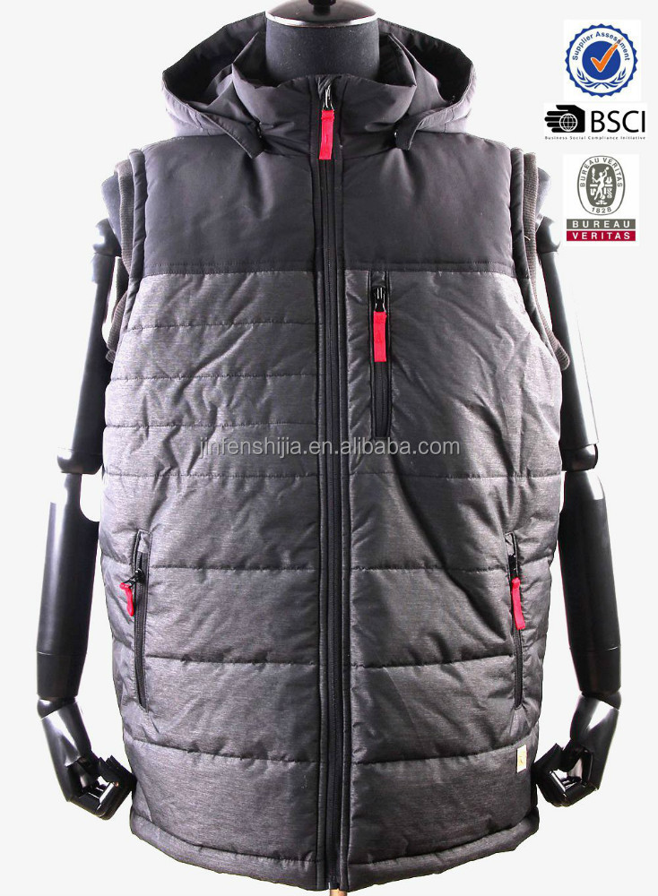 2016 wholesale winter quilted vest jackets men