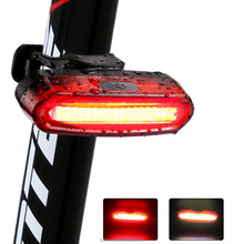 COB warning taillight USB charging high brightness bicycle riding bicycle headlights and equipment