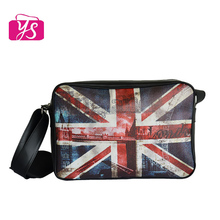 fancy printed PU leather mens shoulder cheap messenger bag