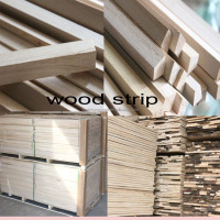 Rubber wood Architrave oak timber/sawn timber price/trapezoid timber woods for wholesale