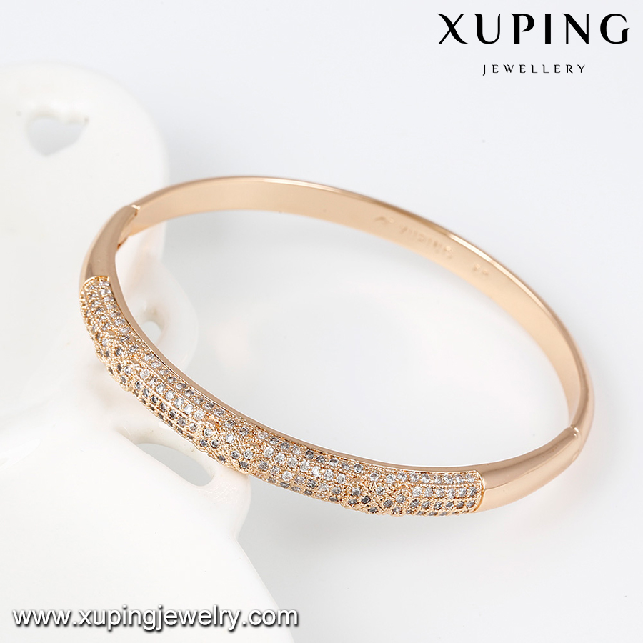 51439- Xuping Fashion New Style Brass Bangle With Gold Plated