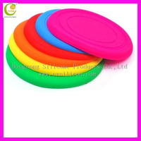 Fashion newest hot design dog flying disc frisbee flying sauer flying disk flying silicone glow in the dark frisbee