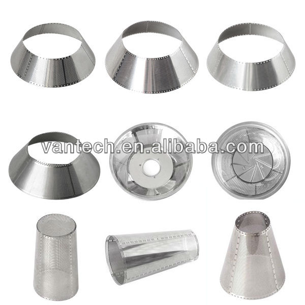 stainless steel 304 photo etching Sieve for juicer machine