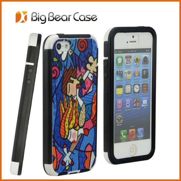 phone case for iphone 5s case with 3d flip effect