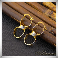 Gold Plated Figure 8 China Suppliers Jewelry Indian Designs Brass Earring